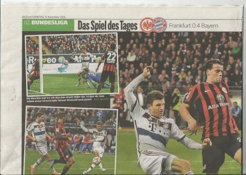 Bild am Sonntag - Sport - Bayern v Frankfurt 1