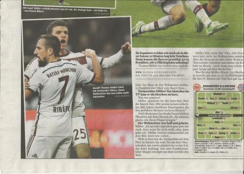 Bild am Sonntag - Sport - Bayern v Frankfurt 2