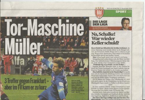 Bild am Sonntag - Sport - Bayern v Frankfurt 3