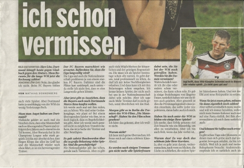 Joachim Löw - Bild am Sonntag - Sport 2