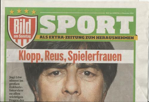 Joachim Löw - Bild am Sonntag - Sport - front cover1