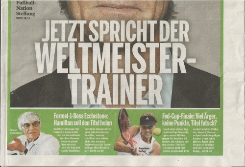 Joachim Löw - Bild am Sonntag - Sport - front cover2