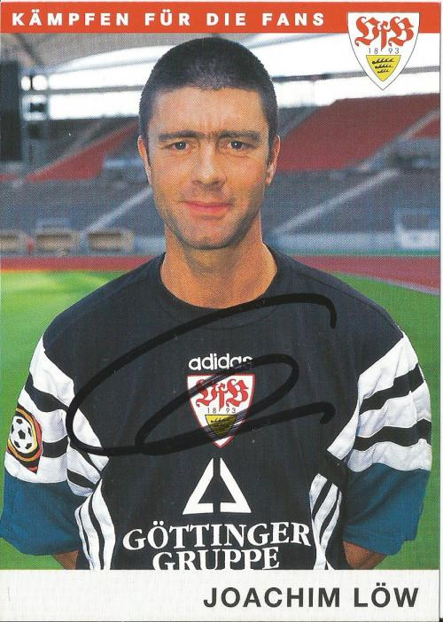 Joachim Löw - Stuttgart card - front
