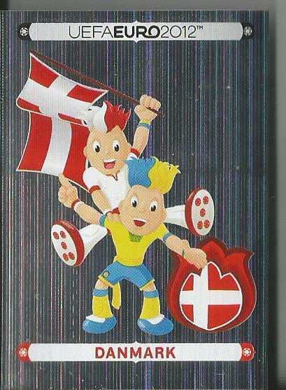 Danmark - EM 2012 sticker