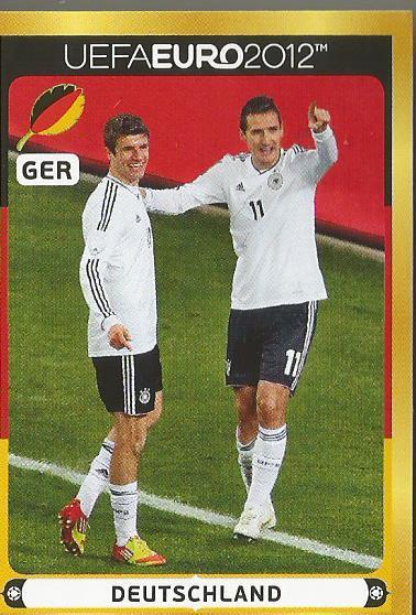 Deutschland 2 - EM 2012 sticker