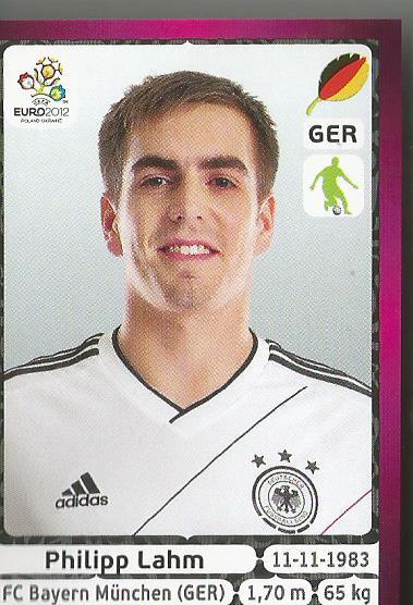 Philipp Lahm - EM 2012 sticker