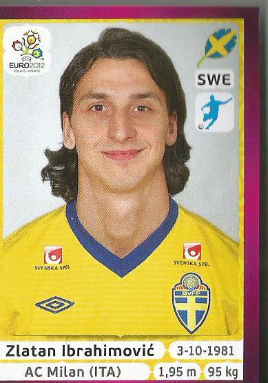 Zlatan Ibrahimovic - EM 2012 sticker