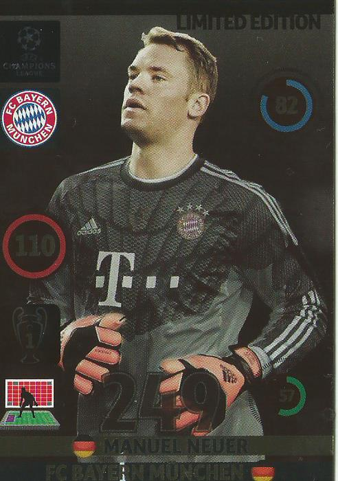 Manuel Neuer - Limited edition 2014-15 Champions League card