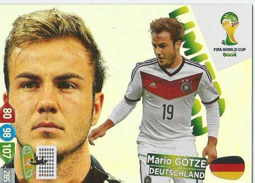 Mario Götze - WM 2014 card