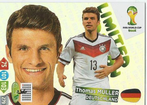 Thomas Müller WM 2014 card