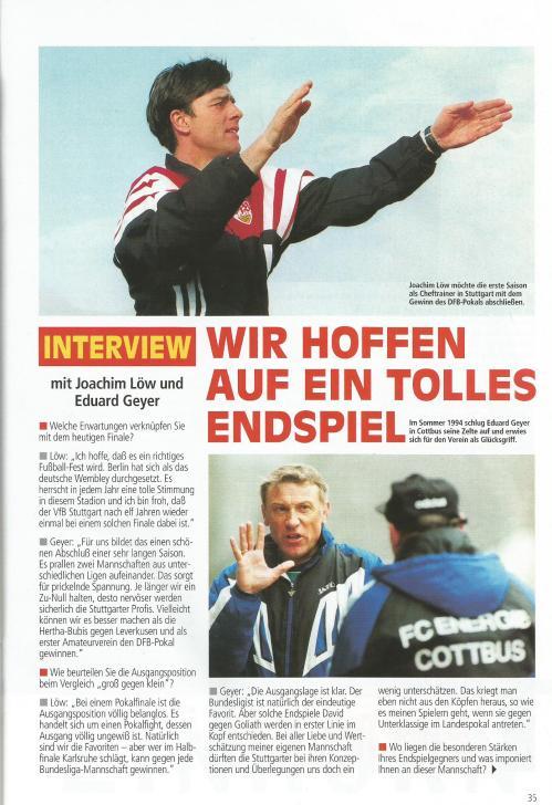 aktuell - VfB Stuttgart vs FC Energie Cottbus - DFB Pokal Endspiel 1997 4
