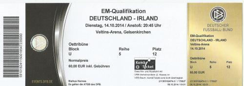 Germany v Ireland - ticket