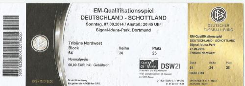 Germany v Scotland - ticket