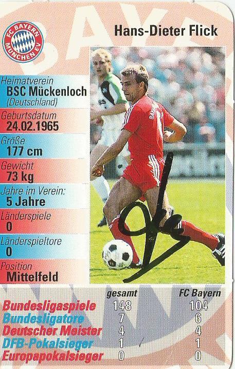 Hans-Dieter Flick - FC Bayern München signed card