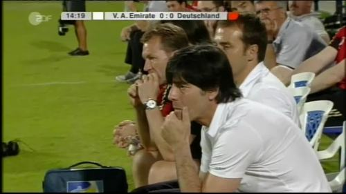 Hansi Flick & Joachim Löw - UAE v Germany 2