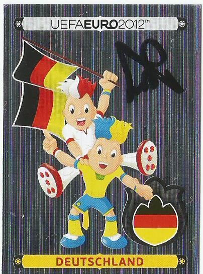 Hansi Flick signed Euro 2012 sticker - Deutschland flag