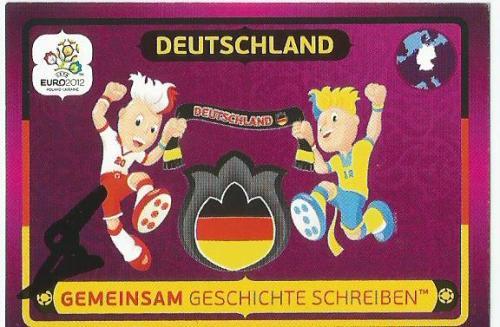 Hansi Flick signed Euro 2012 sticker - Deutschland - Gemeinsam Geschichte Schreiben