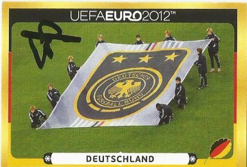Hansi Flick signed Euro 2012 sticker - Deutschland logo 2