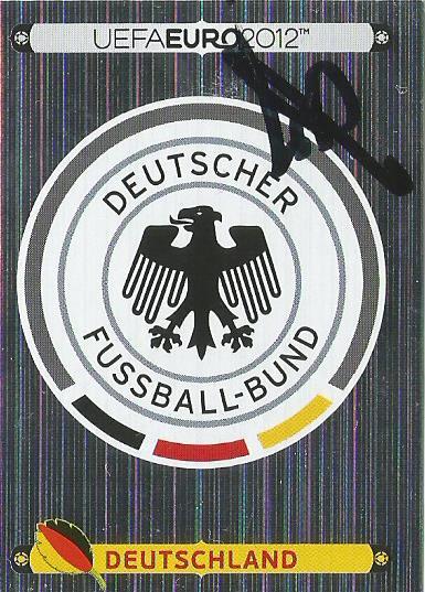 Hansi Flick signed Euro 2012 sticker - Deutschland logo