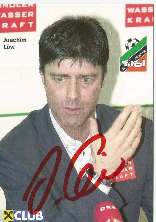 Joachim Löw - FC Tirol Innsbruck Autogrammkarte 1