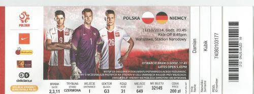 Poland v Germany - ticket