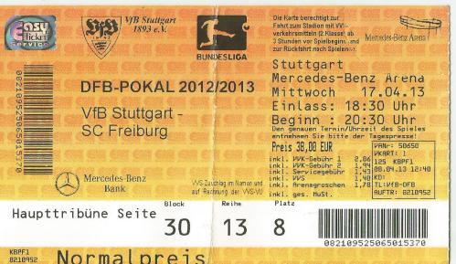 VfB Stuttgart v SC Freiburg - DFB Pokal semi final 2012-13 tick