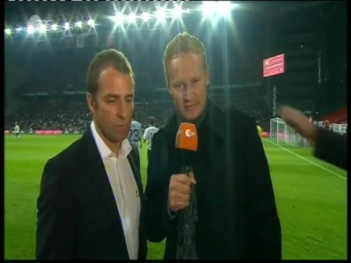 Denmark v Germany 2010 friendly - Hansi Flick half time interview 1