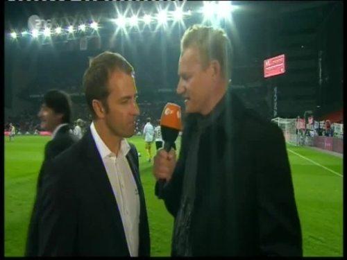 Denmark v Germany 2010 friendly - Hansi Flick half time interview 3