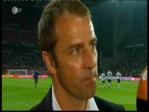 Denmark v Germany 2010 friendly - Hansi Flick half time interview 5