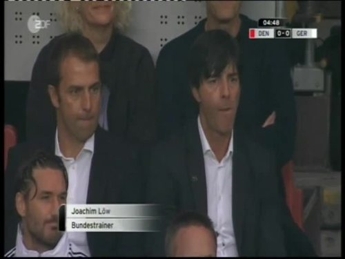 Denmark v Germany 2010 friendly - Jogi Löw & Hansi Flick 12