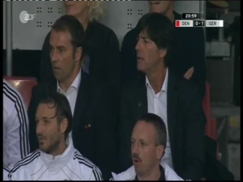 Denmark v Germany 2010 friendly - Jogi Löw & Hansi Flick 16