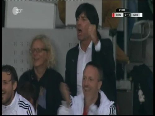 Denmark v Germany 2010 friendly - Jogi Löw & Hansi Flick 17
