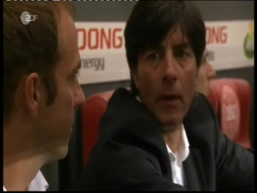 Denmark v Germany 2010 friendly - Jogi Löw & Hansi Flick 2