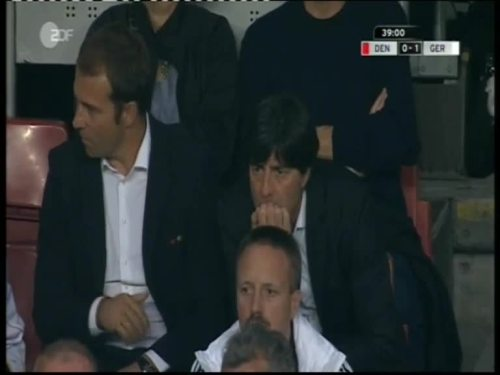 Denmark v Germany 2010 friendly - Jogi Löw & Hansi Flick 20