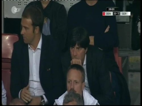 Denmark v Germany 2010 friendly - Jogi Löw & Hansi Flick 21