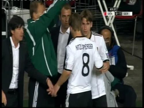 Denmark v Germany 2010 friendly - Jogi Löw & Hansi Flick 25