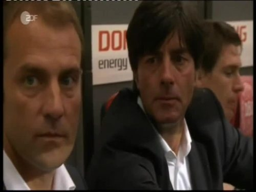 Denmark v Germany 2010 friendly - Jogi Löw & Hansi Flick 3