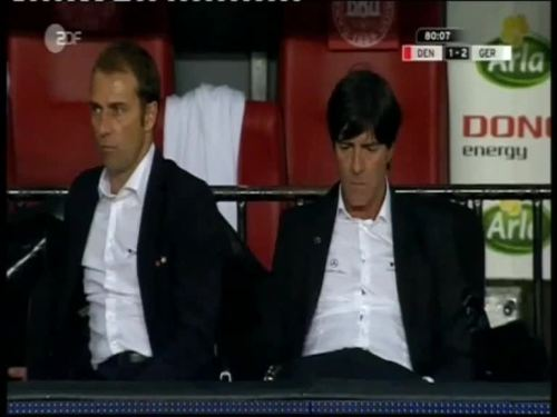 Denmark v Germany 2010 friendly - Jogi Löw & Hansi Flick 30