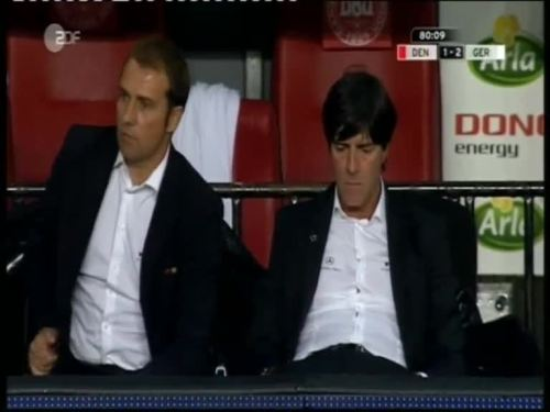 Denmark v Germany 2010 friendly - Jogi Löw & Hansi Flick 31