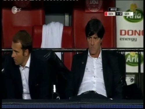 Denmark v Germany 2010 friendly - Jogi Löw & Hansi Flick 33