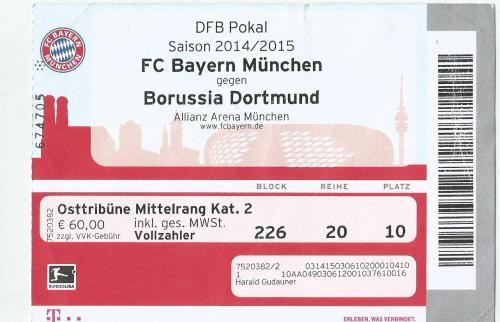 FCB v BVB - DFB Pokal - 2014-15