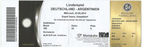 Germany v Argentina - ticket