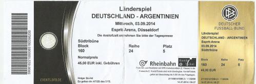 Germany v Argentina - ticket