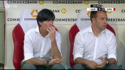 Germany v Armenia - Joachim Löw & Hansi Flick 1