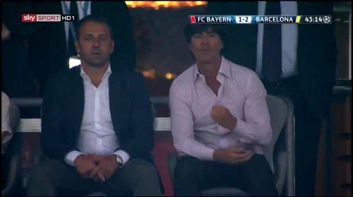 Hansi Flick & Joachim Löw at Bayern München v Barcelona 1