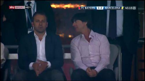 Hansi Flick & Joachim Löw at Bayern München v Barcelona 2