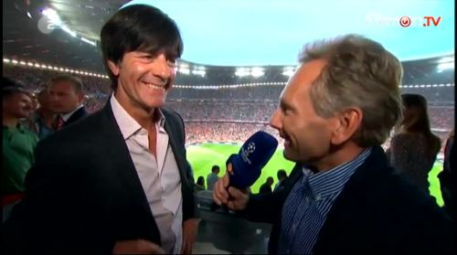 Joachim Löw - ZDF interview before Bayern v Barcelona 1