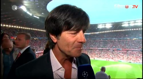 Joachim Löw - ZDF interview before Bayern v Barcelona 2