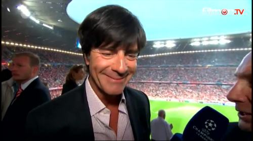 Joachim Löw - ZDF interview before Bayern v Barcelona 3