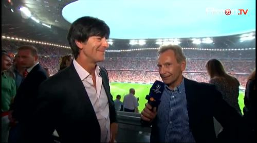 Joachim Löw - ZDF interview before Bayern v Barcelona 4